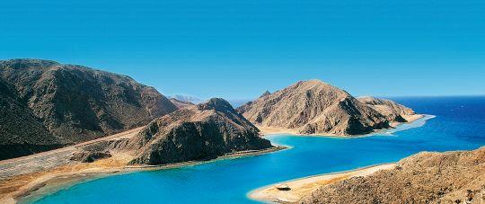 Taba - kurortas Sinajaus kalnų fone